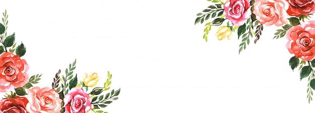 エレガントな花の創造的なバナーの背景 無料ベクター