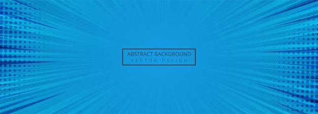 抽象的なブルーコミックバナーの背景 無料ベクター