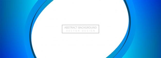 Абстрактная творческая голубая волна баннер фон Бесплатные векторы