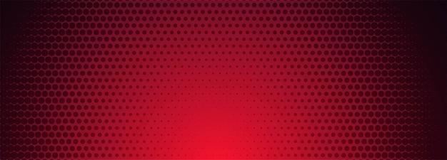 赤と黒のハーフトーンパターンバナーの背景 無料ベクター