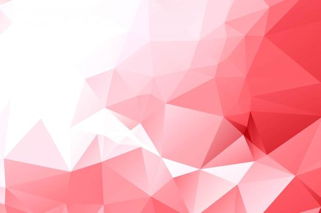 抽象的な赤の幾何学的な多角形の背景 無料ベクター
