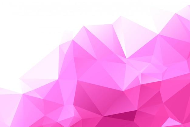 抽象的なピンクの幾何学的な多角形の背景 無料ベクター