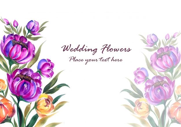 グリーティングカードの結婚記念日装飾花のフレーム 無料ベクター