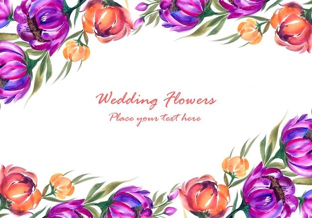 装飾的な花の組成で作られたフレーム 無料ベクター