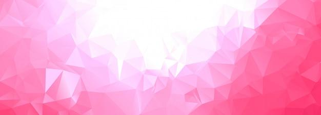 抽象的な幾何学的な多角形のバナー 無料ベクター