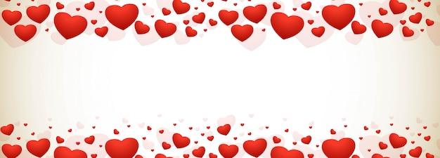 С днем святого валентина декоративные сердца фон Бесплатные векторы
