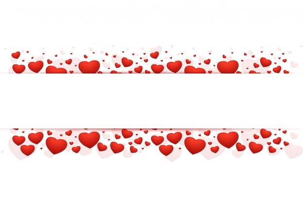 Романтический день святого валентина красивая рамка Бесплатные векторы