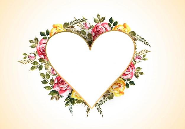 День святого валентина с яркими цветами Бесплатные векторы