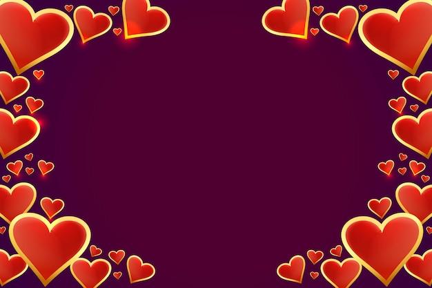 Красивые сердечки валентинка Бесплатные векторы