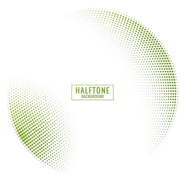 Абстрактный зеленый и белый полутоновый фон Бесплатные векторы