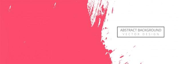 抽象的なピンクの水彩ストロークバナー 無料ベクター