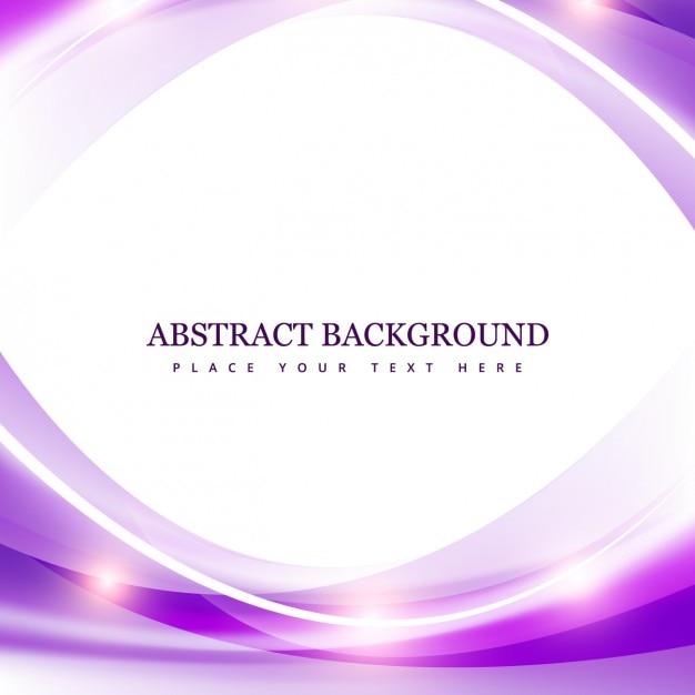 光沢のある波と紫の抽象的な背景 無料ベクター
