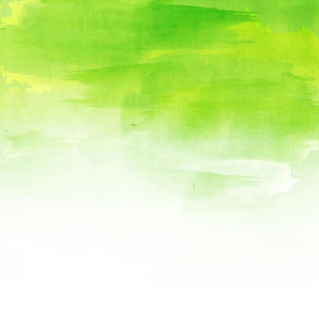 Зеленый акварель красивый фон Бесплатные векторы
