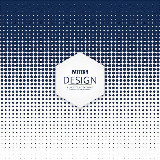 モダンなドットパターンのデザイン 無料ベクター