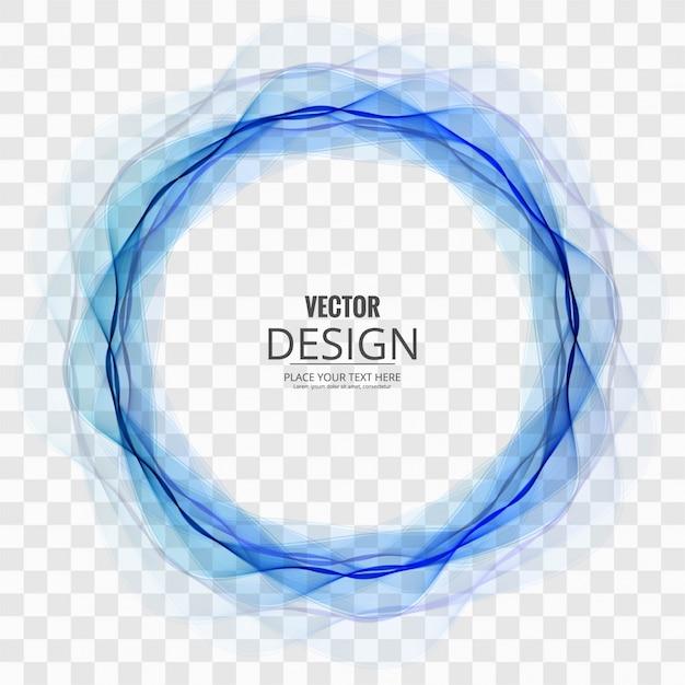透明な背景に抽象的な青い円 無料ベクター