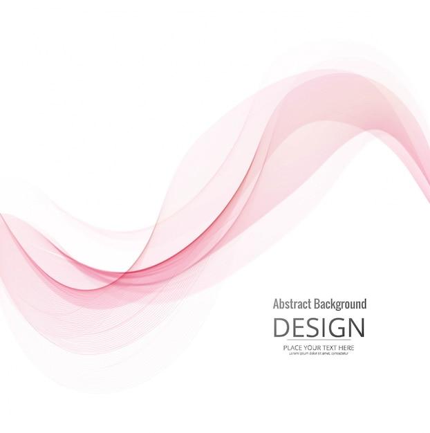 現代のピンクの波の背景 無料ベクター