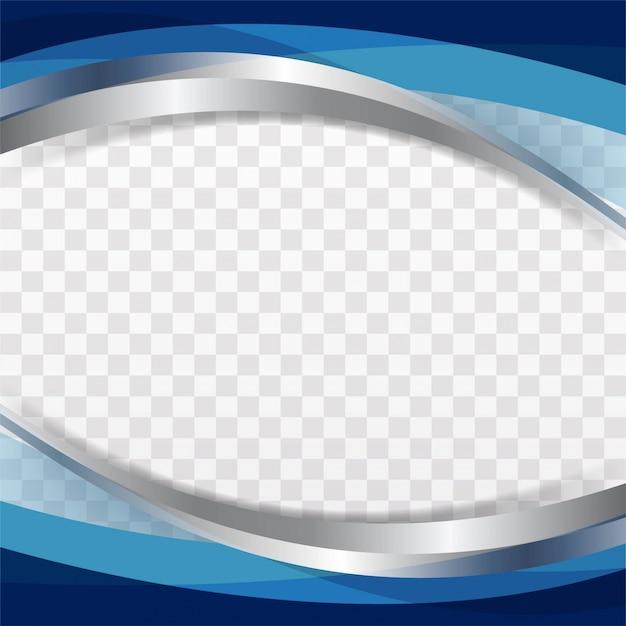 Блестящий синий фон волны Бесплатные векторы