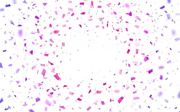 ピンクと紫の紙吹雪 Premiumベクター