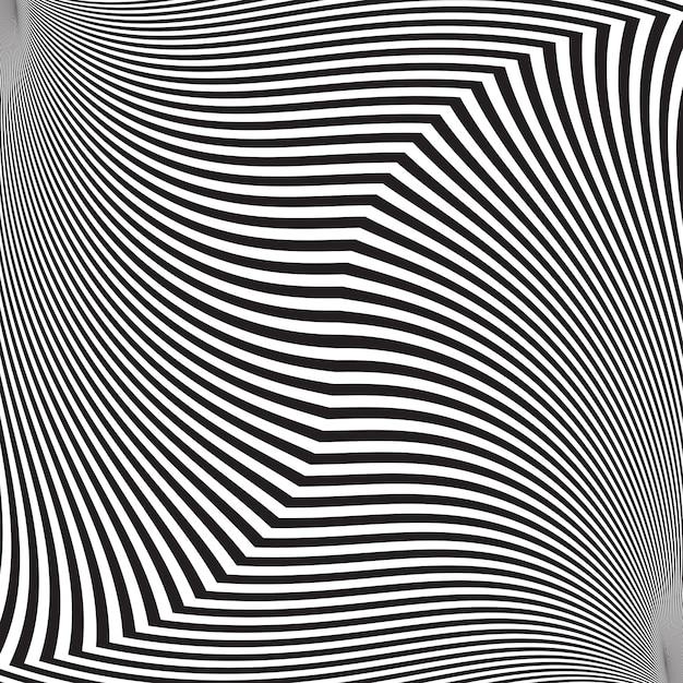 Оптическая иллюзия, абстрактный витой фон Premium векторы