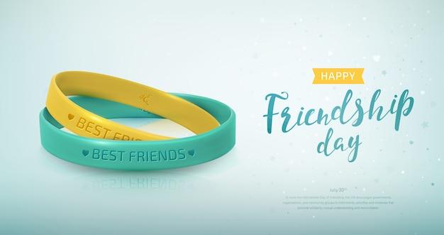 Резиновые браслеты для группы друзей Premium векторы