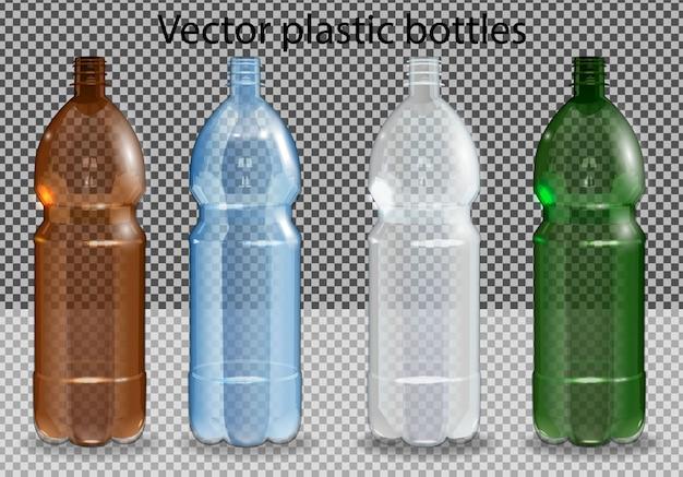 透明なアルファのミネラルウォーターの入ったペットボトル。写真のリアルなボトル Premiumベクター