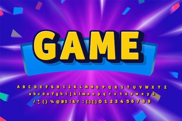 Иллюстрация игрового алфавита Premium векторы