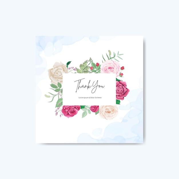 Красивые цветочные свадебные приглашения и шаблоны Premium векторы