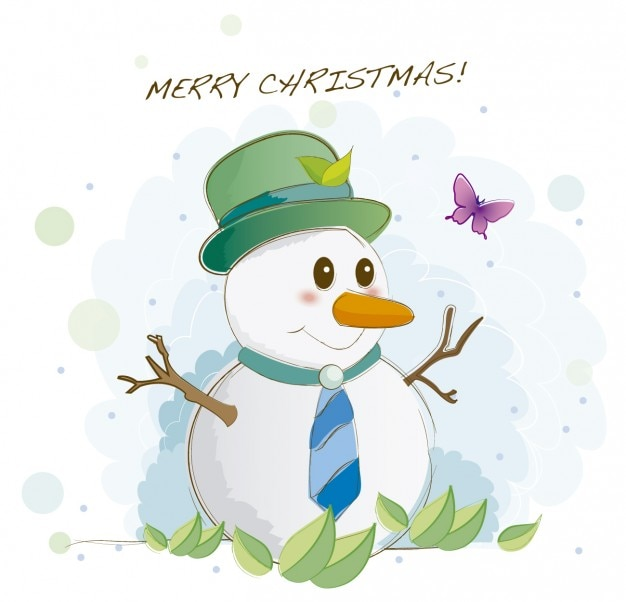 雪だるまのイラスト ベクター画像 無料ダウンロード