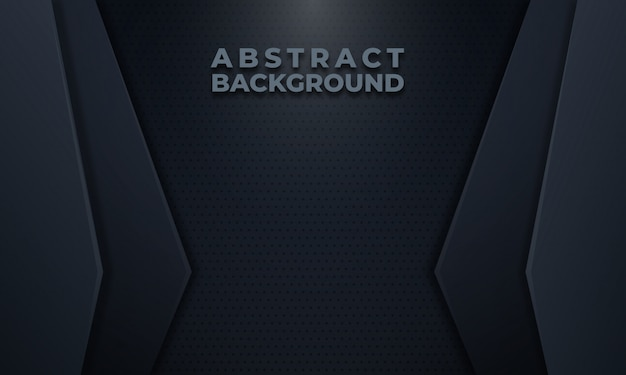 ドットパターンと抽象的な暗い灰色の背景 Premiumベクター