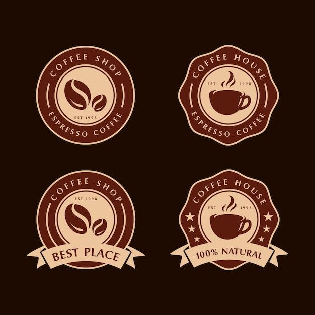コーヒーラベルのセット Premiumベクター