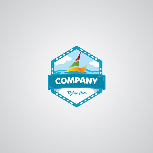 旅行バッジのロゴ Premiumベクター