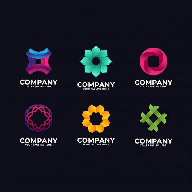 抽象的なロゴコレクション Premiumベクター
