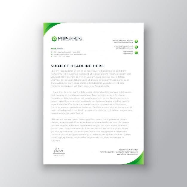 エレガントなグラデーションレターヘッドテンプレートデザイン Premiumベクター