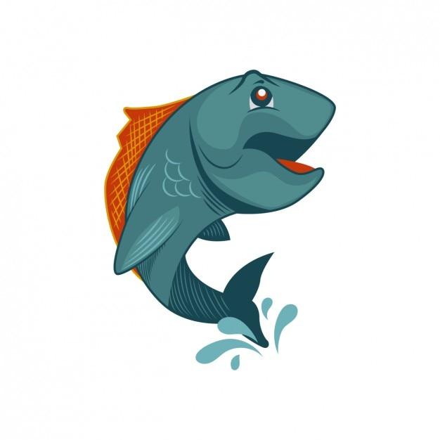 水のうち、魚 無料ベクター