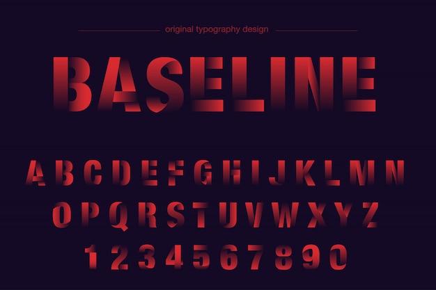赤い太字スライスタイポグラフィデザイン Premiumベクター