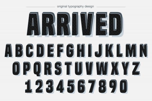 黒のパターンの大胆なタイポグラフィデザイン Premiumベクター