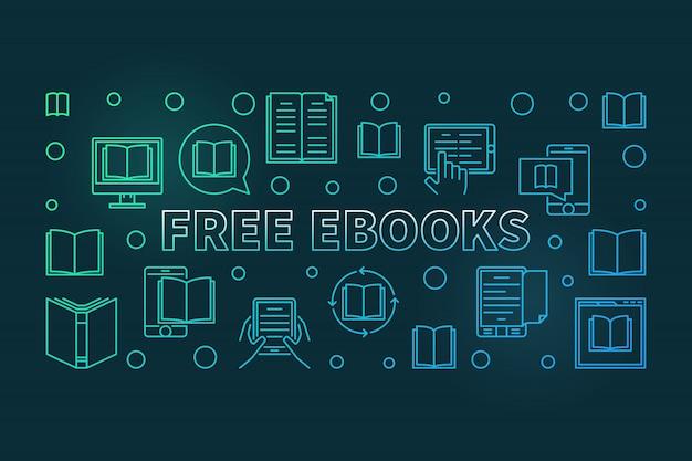 無料の電子ブックカラフルなライン Premiumベクター