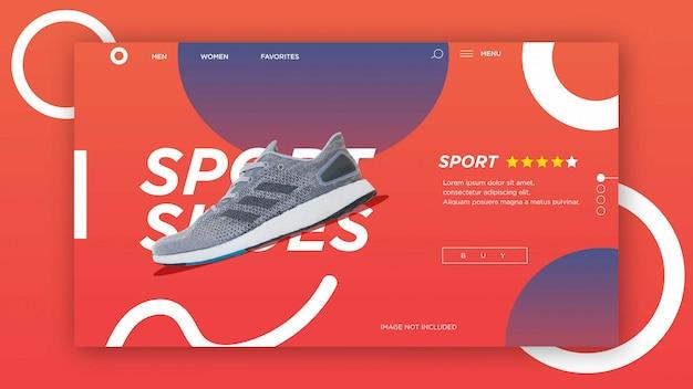 Шаблон целевой страницы, современный шаблон продажи баннеров. шаблон веб-дизайна Premium векторы