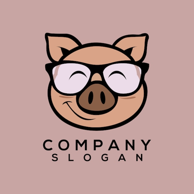 豚のロゴのベクトル Premiumベクター