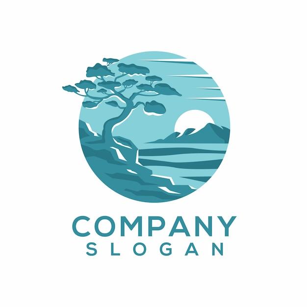 海のロゴのベクトル Premiumベクター
