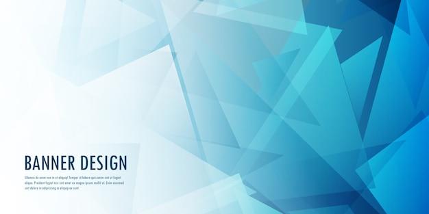 Абстрактный дизайн баннера с низким поли Бесплатные векторы
