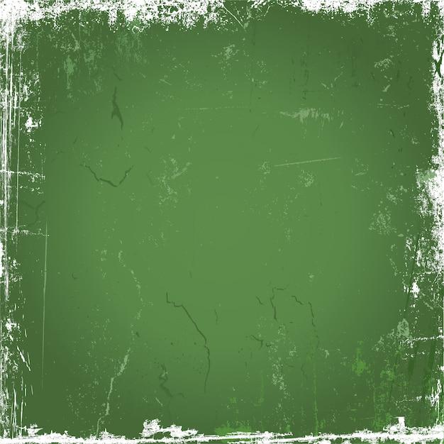 緑のグランジ背景 無料ベクター