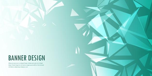 抽象的な低ポリバナーデザイン 無料ベクター