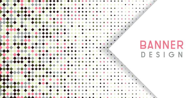 ダイヤモンドハーフトーンデザインと抽象的な背景 無料ベクター