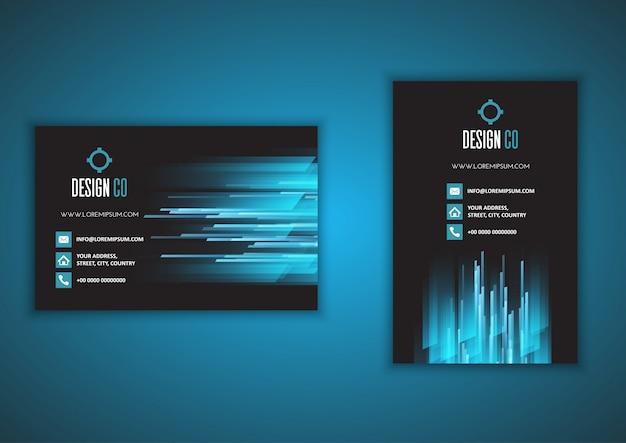 Визитная карточка с портретом и ландшафтом Premium векторы