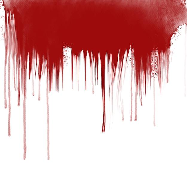 白い背景の上の血の滴り Premiumベクター