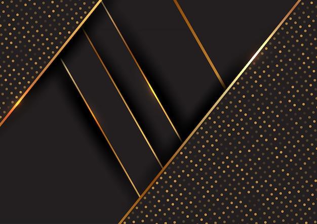 Абстрактный черный и золотой фон Бесплатные векторы