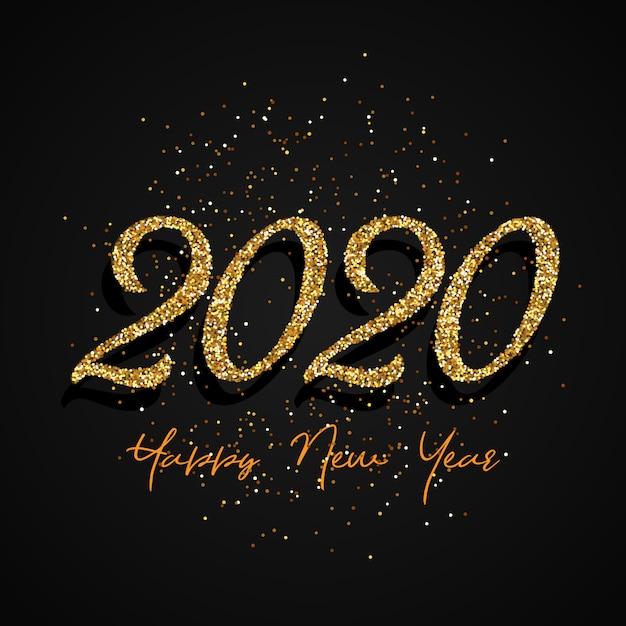 Блеск с новым годом Бесплатные векторы