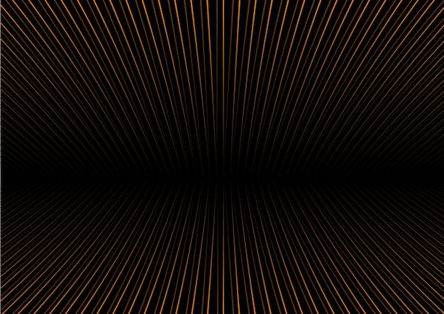 視点ゴールドストライプと抽象的な背景 無料ベクター
