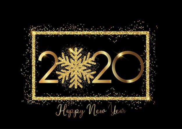 キラキラスノーフレーク新年あけましておめでとうございます背景 無料ベクター